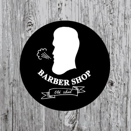 barber: Barber shop label,vector icon. Illustration
