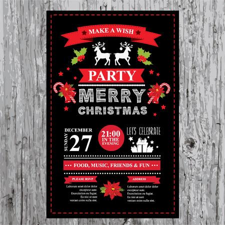 Christmas restaurant and party menu, invitation. Stok Fotoğraf - 34058049