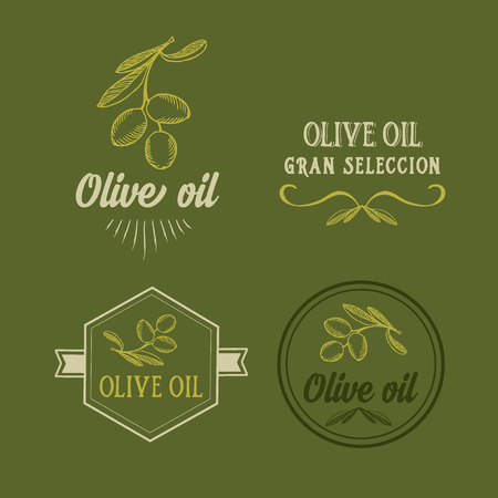 italia: Olive oil, design concept. Great selection. Illustration