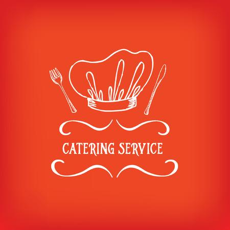 Servicio de catering, diseño del logotipo. Foto de archivo - 37803460