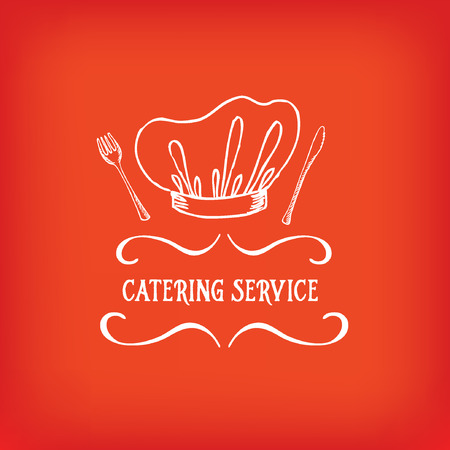 Catering service, design logo.