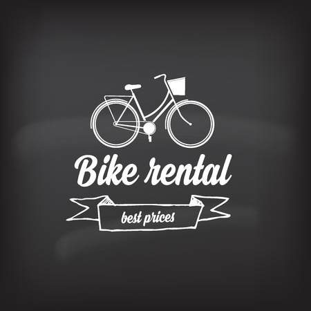 rental: Bike rental, design concept. Illustration