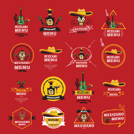 alimentos y bebidas: Menú ilustración design.Vector mexicano.