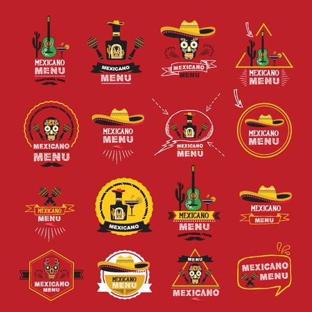 Menu mexican design.Vector illustration.