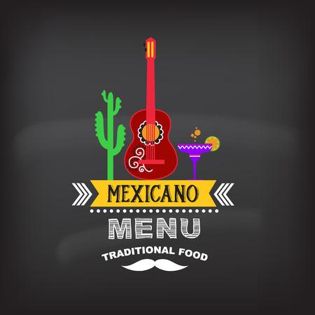 Menu Mexicaanse design.Vector illustratie. Stock Illustratie