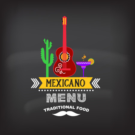 Menu mexican design.Vector illustration.