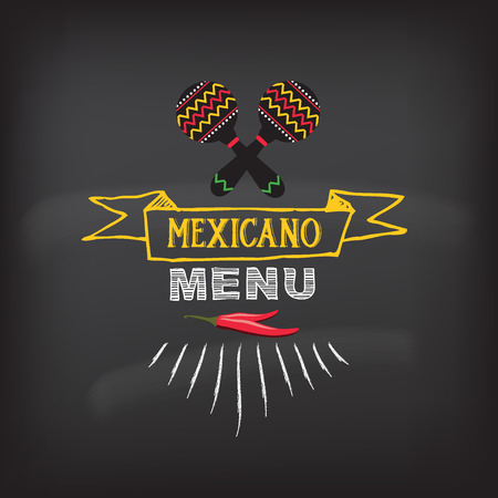 mexican: Menu mexican design.Vector illustration.