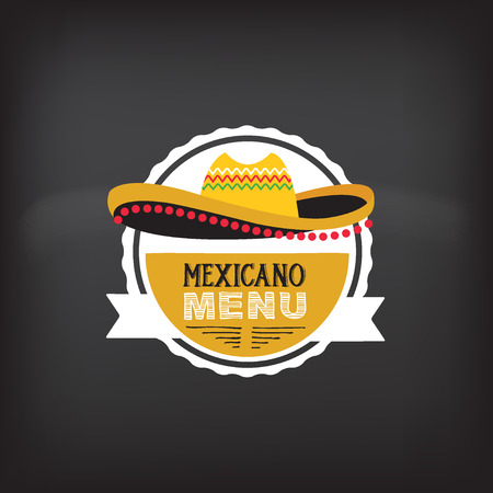 sombrero: Menu mexican design.Vector illustration.