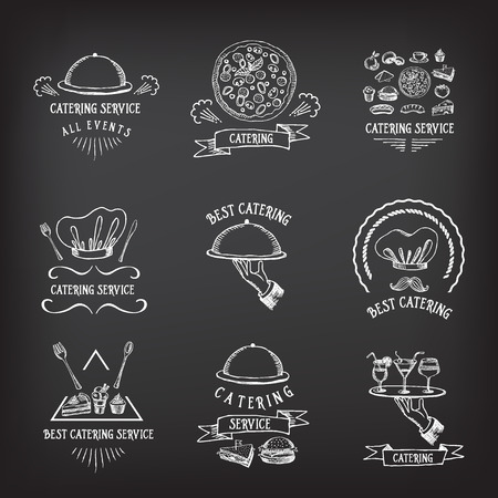 icons: Catering service, design icon. Stock Illustratie