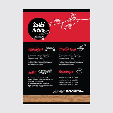 Restaurant café menu, modèle design.Vector illustration.