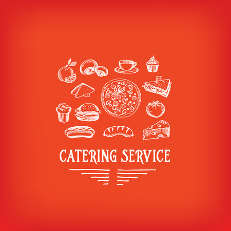 catering service: Catering service, design icon. Illustration