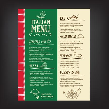 Restaurant cafe menu, template design.Vector illustration. Illustration