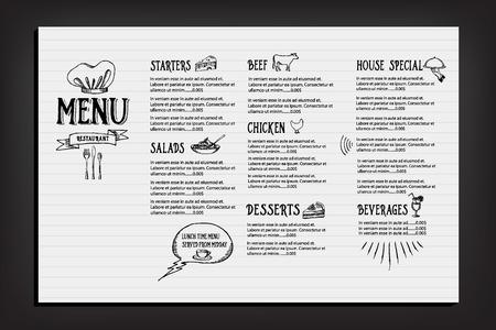 レストラン カフェ メニュー、デザイン テンプレート  イラスト・ベクター素材