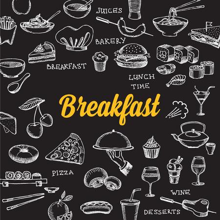 Restaurant-Café-Menü Template-Design