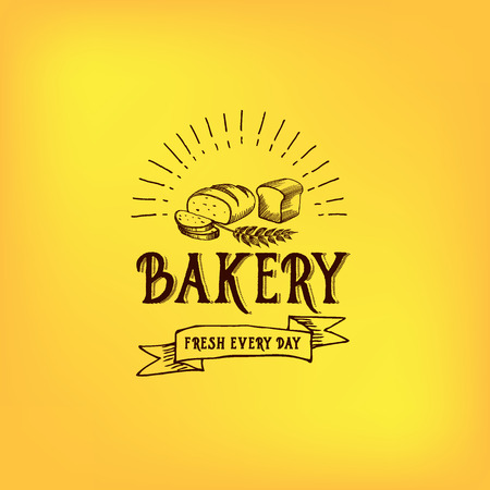 bakery: Bread and bakery design. Sketch, doodle