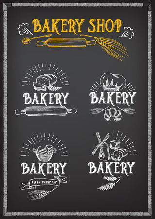 Bread and bakery design. Sketch, doodle vector. Vector