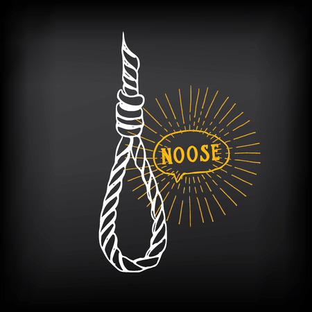 noose: Hanging rope, noose sketch design