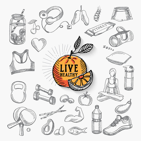 living: Healthy life icon design.
