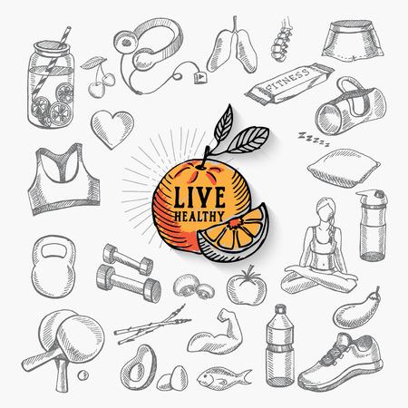 healthy living: Healthy life icon design.