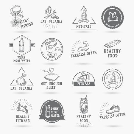 sport equipment: Healthy life, icon design.