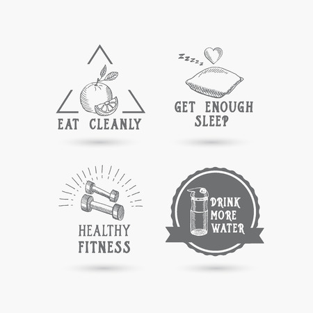 gym equipment: Healthy life, icon design.