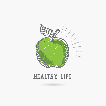 Logo healthy lifestyle. Design icon.
