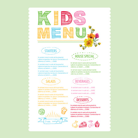 Kids Menu Template. Royalty Free Cliparts, Vectors, And Stock ...
