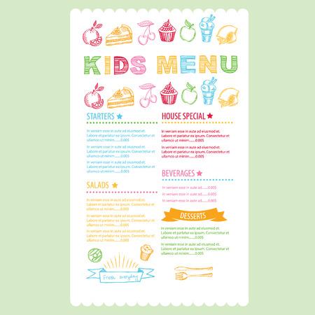 menu background: Kids menu template.