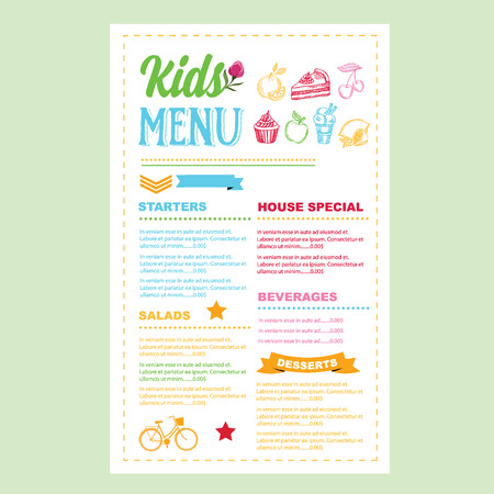 Kids Menu Photos Images Royalty Free Kids Menu Images And – Free Kids Menu Templates