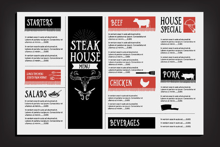 flyer party: Restaurant cafe menu, template design