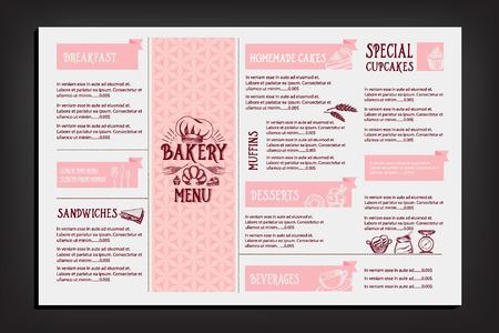 logo de comida: Menú de cafetería restaurante, diseño de la plantilla. Folleto de Alimentos.