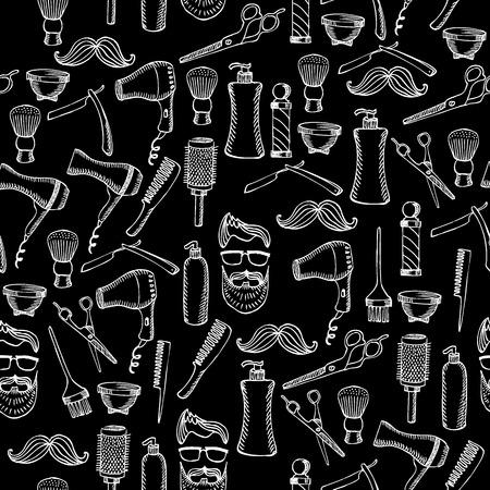 Nahtlose Muster Hintergrund Friseursalon. Standard-Bild - 40081641
