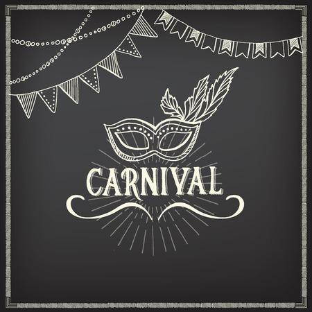 carnival: Iconos Carnaval, diseño boceto.