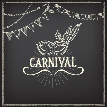 Carnival icons, sketch design.