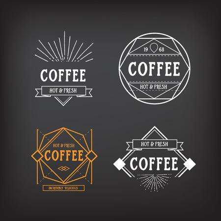 badge vector: Coffee menu   template vintage geometric badge. Vector food design. Illustration