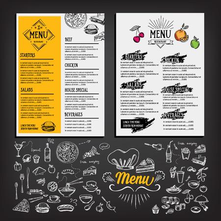 speisekarte: Restaurant-Caf�-Men�-Vorlage Design. Essen Flyer.