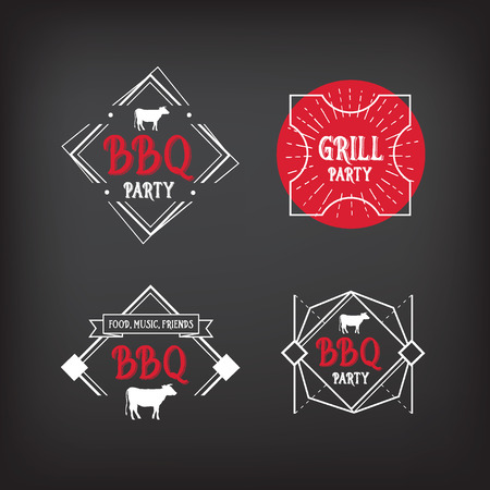 Barbecue party icon. BBQ menu design. Vector