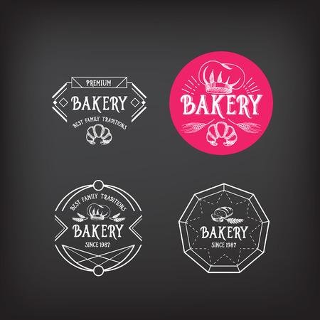 Bakery icon design. Menu badge vintage. Vector