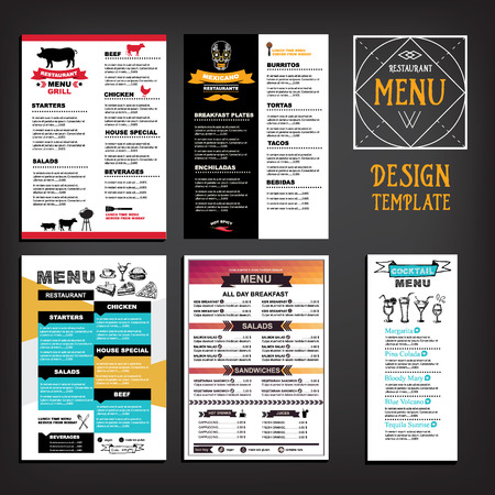 Restaurant cafe menu, template design. Food flyer. Illusztráció