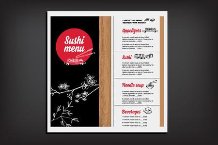 Restaurant cafe menu, template design. Food flyer. Illustration