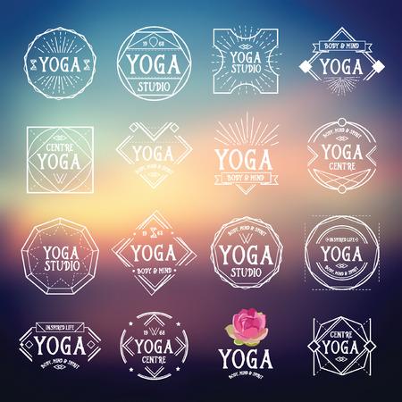 Yoga sport pictogrammen.