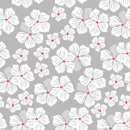 patrones de flores: Patrón floral sin fisuras con flores tropicales. Impresión del vintage.