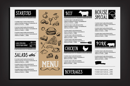 Restaurant cafe menu template design. Food flyer.