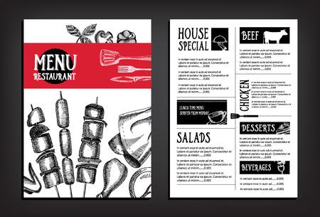 menu bars: Cafe menu restaurant brochure. Food design template.