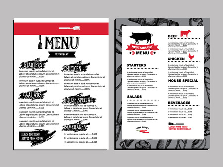 seafood background: Cafe menu restaurant brochure. Food design template.