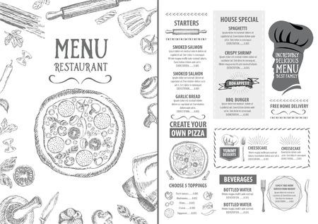 Ristorante bar menu, modello di progettazione. Volantino alimentare. Archivio Fotografico - 42514266