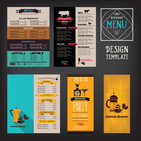 Menú de cafetería restaurante, diseño de la plantilla. Folleto de Alimentos. Foto de archivo - 42514343