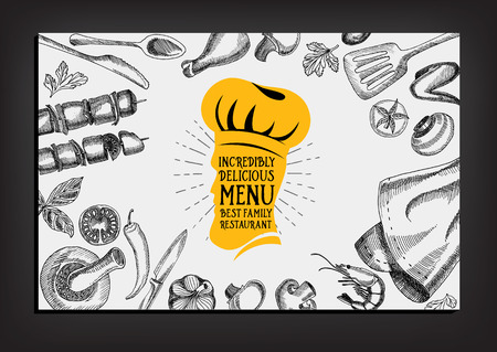 Restaurant cafe menu, template design. Food flyer. Фото со стока - 42514418