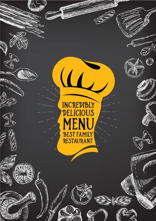 Restaurant-Café-Menü-Vorlage Design. Essen Flyer. Standard-Bild - 42514443