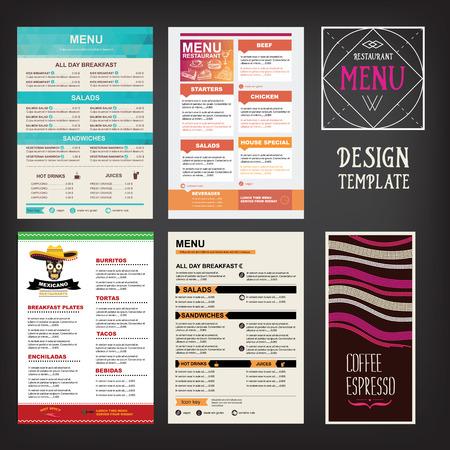 alimentos y bebidas: Men� Cafe folleto restaurante. Modelo del dise�o de la Alimentaci�n.